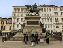 Equestrian statue of Bartolomeo Colleoni, Venice. The Equestrian statue of Bartolomeo Colleoni is a Renaissance sculpture in Campo Santi Giovanni e Paolo, Venice Royalty Free Stock Image