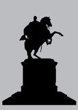 Equestrian Statue of Bolivar Silhouette Royalty Free Stock Image