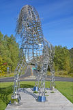 Equestrian statue. BROMONT QUEBEC CANADA 09 28 2016: By Mathieu Isabelle new statue in Bromont. The home of the Parc equestre Olympique de Bromont, equestrian Royalty Free Stock Photos