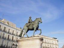 Equestrian statue of Carlos III stock image