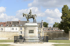 Equestrian statue. Chantilly  is a commune in the Oise department in the valley of the Nonette in the Picardy region of northern France. Surrounded by Chantilly Royalty Free Stock Image