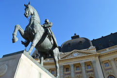 Equestrian statue of Charles I in bucharest Stock Photography