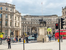 Equestrian statue of Charles I in London Stock Photo