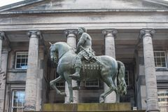 Equestrian statue of Charles II in the centre of parliment squar. E Edinburgh, Scotland Stock Photography