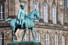Equestrian statue of Christian IX near Christiansborg Palace, Co Royalty Free Stock Photo