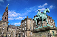 Equestrian statue of Christian IX near Christiansborg Palace, Co Stock Image
