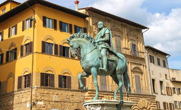Equestrian statue of Cosimo de 'Medici. Florence, Italy Royalty Free Stock Images
