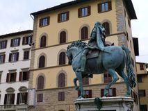 Statue on the piazza della signora in Florence Royalty Free Stock Image