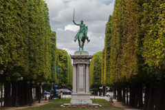 Equestrian Statue Cours La Reine Paris Royalty Free Stock Photos