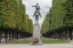 Equestrian Statue Cours La Reine Paris Stock Photo