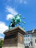 Equestrian statue of Danish archbishop and statesman Absalon. Bronze equestrian statue of Danish archbishop and statesman Absalon (1902) by sculptor V. Bissen ( Royalty Free Stock Image