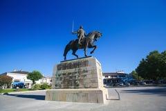 Equestrian statue of Dom Nuno Alvares Pereira at Batalha Monaste. BATALHA, PORTUGAL - JULY 24, 2016: Equestrian statue of Dom Nuno Alvares Pereira at the Royalty Free Stock Photography