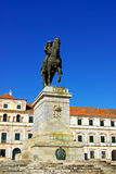 Equestrian statue and ducal palace. Stock Image