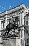Equestrian statue of the Duke of Cambridge, Whitehall is a life-size memorial by Adrian Jones. It stands proudly on Whitehall outs. London, UK - March 7th, 2018 Stock Photos