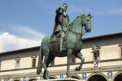 Equestrian Statue of Duke Ferdinando I de Medici, Florence, Ital Stock Images