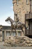 Equestrian Statue in Edinburgh Castle, Scotland Stock Photos