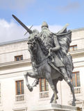 Equestrian statue of El Cid Royalty Free Stock Photo