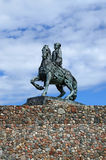 Equestrian statue of Empress Elizabeth Petrovna. Baltiysk, Russi Royalty Free Stock Photography