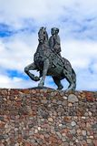 Equestrian statue of Empress Elizabeth Petrovna. Baltiysk, Russia Stock Photos