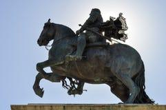 Equestrian statue of Felipe IV Stock Images