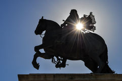 Equestrian statue of Felipe IV Stock Image