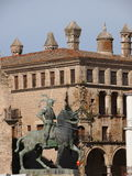 Equestrian statue of Francisco Pizarro in Trujillo Stock Photo