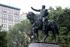 Equestrian statue of General George Washington, in the south sid Royalty Free Stock Photography