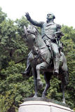 Equestrian statue of General George Washington, in the south sid Stock Photo