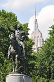 The equestrian statue of George Washington, New York City. The equestrian statue of George Washington in Union Square in New York Stock Images