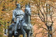 Equestrian statue of Giuseppe Garibaldi in Bologna Royalty Free Stock Photos