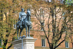 Equestrian statue of Giuseppe Garibaldi in Bologna. Stock Photography