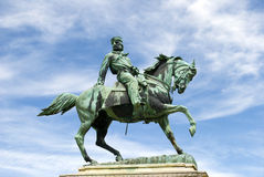 Equestrian statue of Giuseppe Garibaldi in Siena Stock Images