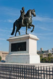 Equestrian statue of Henry IV on the Pont Neuf Stock Photos