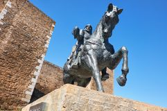 Equestrian statue of Ibn Qasi,  governor of the taifa kingdom of Royalty Free Stock Image