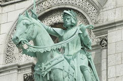 Equestrian Statue of Joan of Arc at Basilique du Sacré-Cœur Royalty Free Stock Photography
