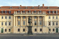 Equestrian statue of Karl August, Grand Duke of Saxe-Weimar-Eisenach, in Weimar Stock Photo