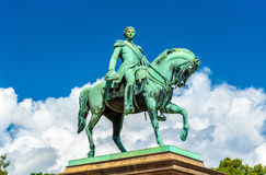Equestrian statue of Karl Johan in Oslo Royalty Free Stock Photography