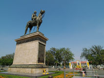 Equestrian statue of the King, Bangkok Stock Images