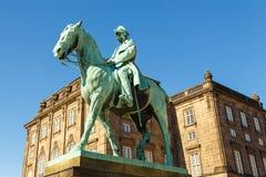 Equestrian statue of King Christian IX of Denmark. stock photo