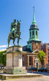 Equestrian Statue of King Christian X in Copenhagen Royalty Free Stock Images