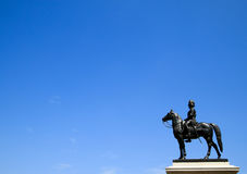 The equestrian statue of King Chulalongkorn Rama V Stock Image
