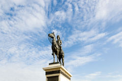 The equestrian statue of King Chulalongkorn (Rama V) Stock Photography