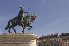 Equestrian statue of King John I Stock Photos