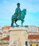 equestrian statue King Jose Lisbon royalty free stock photography
