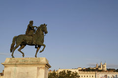 Equestrian statue of king Louis XIV Stock Photography