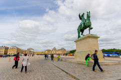 Equestrian statue of King Louis XIV at Versailles Royalty Free Stock Images