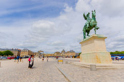 Equestrian statue of King Louis XIV at Versailles Stock Photography