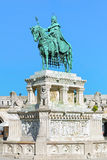 Equestrian statue of King Saint Stephen in Budapest, Hungary. King Saint Stephen Monument in Budapest, Hungary. The monument by sculptor Alajos Strobl, based on stock photography