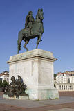Equestrian statue of Louis XIV Stock Images