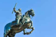 Equestrian statue in Madrid, Spain Royalty Free Stock Photo
